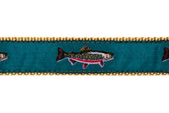 Brook Trout Dog Collar and Leash