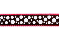 Polka Dot Dog Collar and Leash (White on Black)