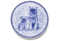Brussels Griffon Puppy Blue Plate