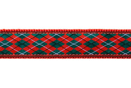 Christmas Argyle Dog Collar & Leash
