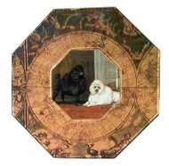 Poodle (mini) Decoupage Plate