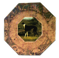 Greyhound Decoupage Plate (# 3)