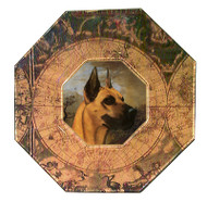 Great Dane Decoupage Plate (# 2)