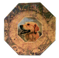 Golden Retriever (Face) Decoupage Plate (# 2)