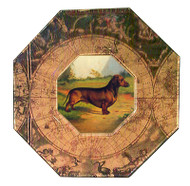 Dachshund (Red Smooth) Decoupage Plate (# 3)