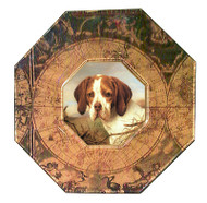 Brittany Spaniel Decoupage Plate (# 2)