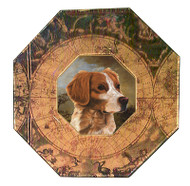 Brittany Spaniel Decoupage Plate