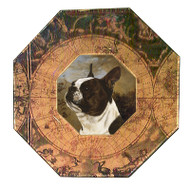 Boston Terrier Decoupage Plate (# 3)