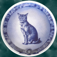 Abyssinian Danish Blue Cat Plate