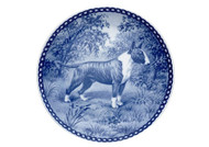Bull Terrier Danish Blue Dog Plate (# 3)