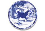 Alaskan Malamute Danish Blue Dog Plate