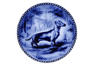 Dachshund (Smooth) Danish Blue Dog Plate (#2)