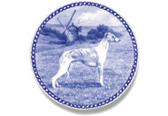 Whippet Danish Blue Dog Plate (# 2)