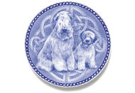 Wheaten Terrier Puppy Danish Blue Dog Plate