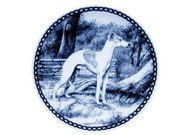 Whippet Danish Blue Dog Plate