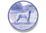 Vizsla Wired Hair Danish Blue Dog Plate