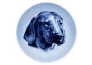 Vizsla Face Danish Blue Dog Plate