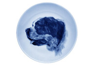 Saint Bernard Face Danish Blue Plate