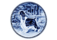 Springer Spaniel (English) Danish Blue Plate (# 3)