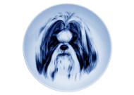 Shih Tzu Face Danish Blue Plate (#3)