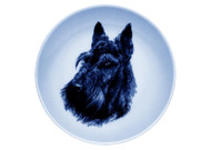 Scottie Face Danish Blue Plate