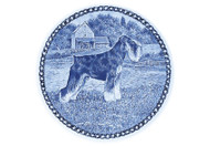 Schnauzer (Standard) Danish Blue Dog Plate