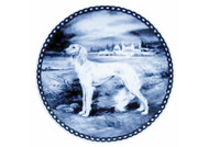 Saluki Danish Blue Dog Plate