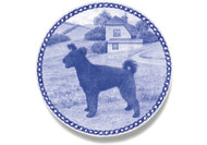Pumi Danish Blue Dog Plate