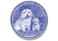 Norwich Terrier Puppy Danish Blue Dog Plate