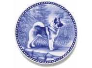 Norwegian Elk Hound Danish Blue Plate