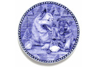 Norwegian Elk Hound Puppy Danish Blue Plate