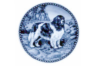 Newfoundland Landseer Danish Blue Dog Plate