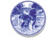 Leonberger Danish Blue Dog Plate