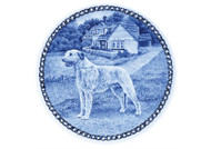 Irish Wolfhound Danish Blue Dog Plate