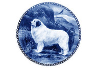 Great Pyrenees Danish Blue Dog Plate