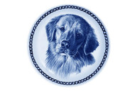 Golden Retriever Face Danish Blue Dog Plate (# 2)