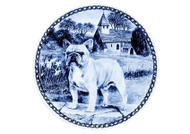 French Bulldog Danish Blue Dog Plate (# 2)