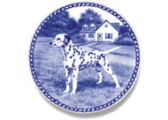 Dalmatian Danish Blue Dog Plate (# 2)