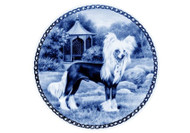 Chinese Crested Dog Danish Blue Plate