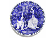 Cavalier King Charles Spaniel Puppy Danish Blue Dog Plate