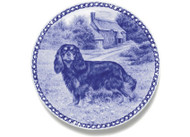 Cavalier King Charles Spaniel (Black & Tan) Danish Blue Dog Plate
