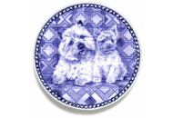 Cairn Terrier Puppy Danish Blue Plate