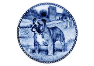 Bulldog Danish Blue Dog Plate