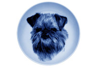 Brussels Griffon Face Blue Plate
