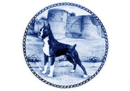 Boxer Danish Blue Dog Plate (# 2)