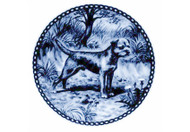 Border Terrier Danish Blue Dog Plate