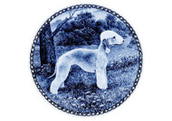 Bedlington Terrier Danish Blue Dog Plate