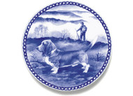 Basset Hound Danish Blue Dog Plate