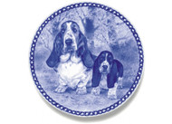 Basset Hound Puppy Danish Blue Dog Plate