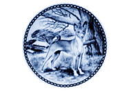 Basenji Danish Blue Dog Plate